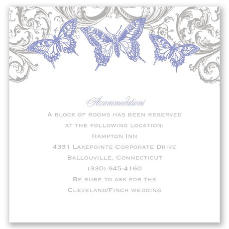 Love Takes Flight Pocket Accommodations Card