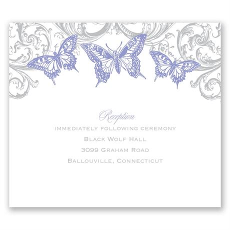 Love Takes Flight Pocket Reception Card