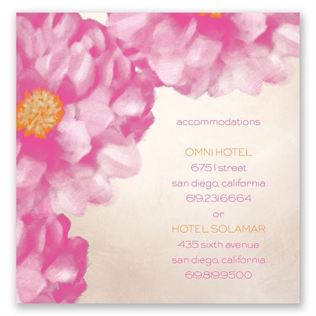Spanish Poppy Pocket Accommodations Card