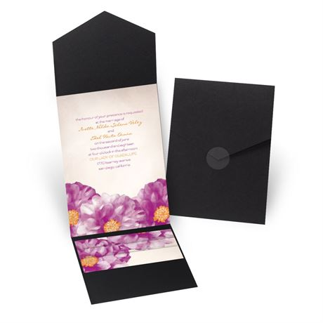 Spanish Poppy - Black - Pocket Invitation