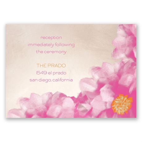 Spanish Poppy Reception Card