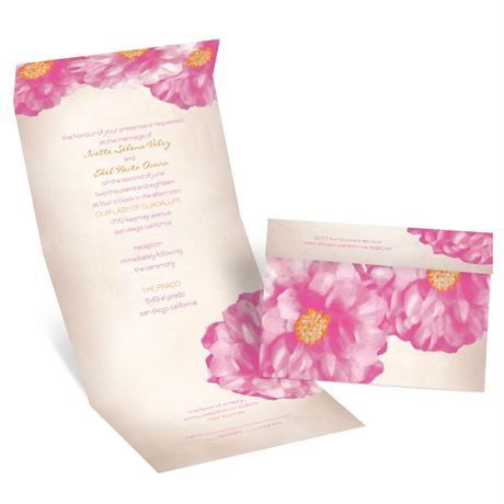 Spanish Poppy Seal and Send Invitation