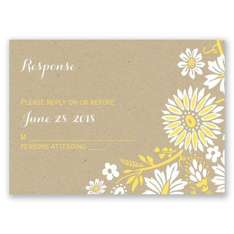Prairie Floral Response Card