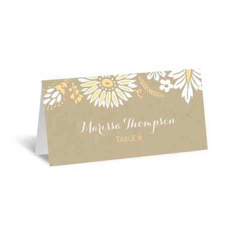 Prairie Floral Escort Card