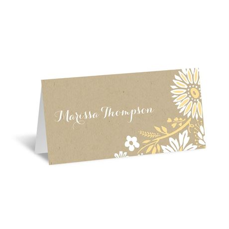 Prairie Floral Place Card