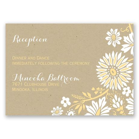 Prairie Floral Reception Card