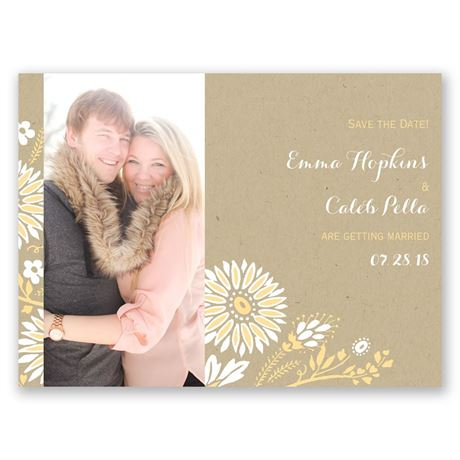 Prairie Floral Save the Date Card