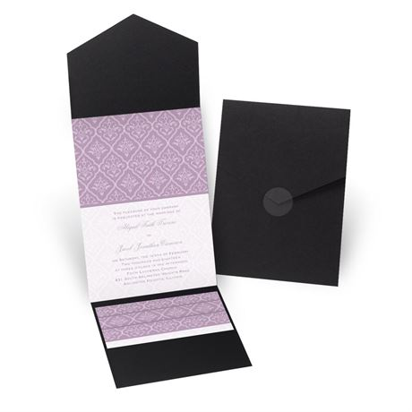 Classic Romance - Black - Pocket Invitation