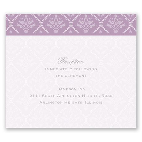 Classic Romance Pocket Reception Card