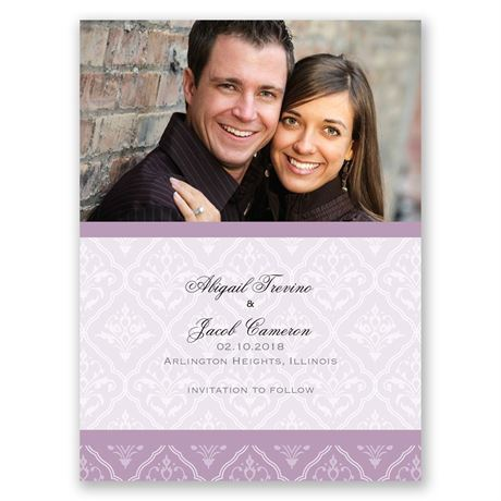 Classic Romance Save the Date Card