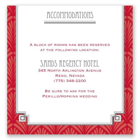 Forever Vintage Pocket Accommodations Card