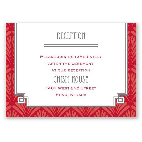 Forever Vintage Reception Card