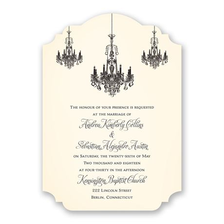 Ballroom Beauty Invitation
