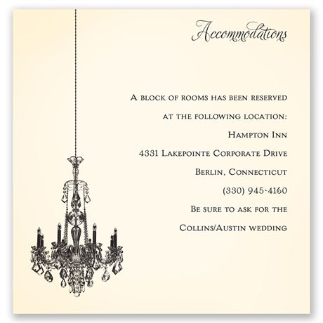 Ballroom Beauty Pocket Accommodations Card
