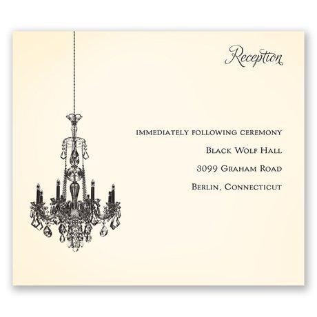 Ballroom Beauty Pocket Reception Card