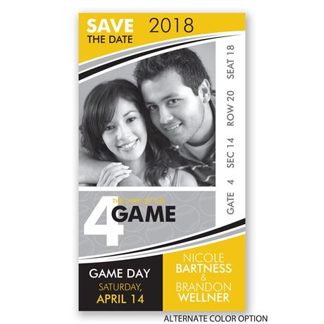 Baseball - Save the Date Card