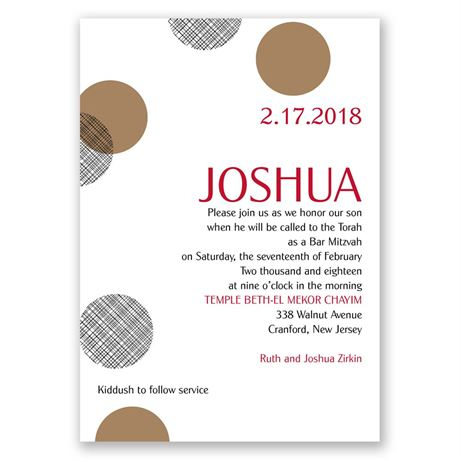 Double Dots Mitzvah Invitation