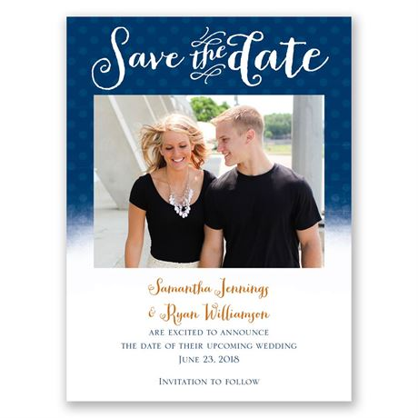 Polka Dot Horizon Save the Date Card