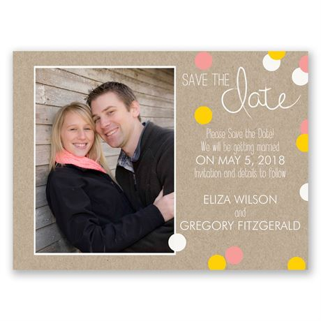 Dazzling Polka Dots Save the Date Card