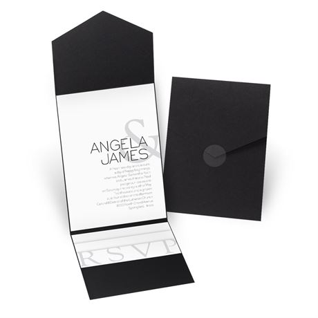 Modern Marvel - Black - Pocket Invitation