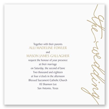 Pure Sophistication Invitation