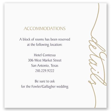 Pure Sophistication Pocket Accommodations Card