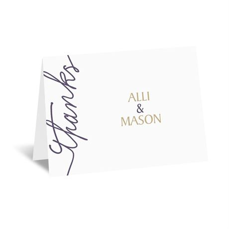 Pure Sophistication Thank You Card