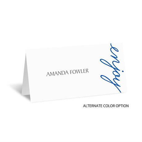 Pure Sophistication - Place Card