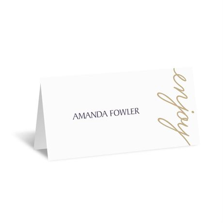 Pure Sophistication Place Card