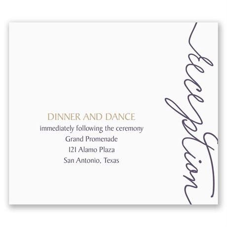 Pure Sophistication Pocket Reception Card