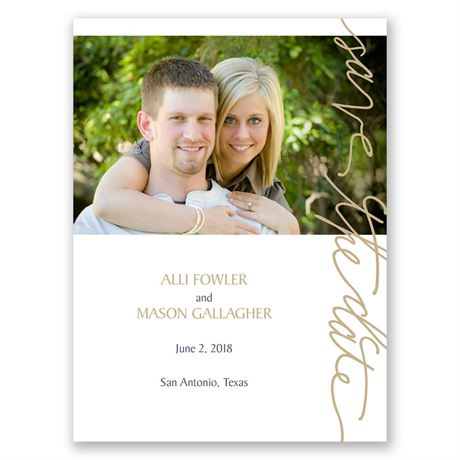 Pure Sophistication Save the Date Card