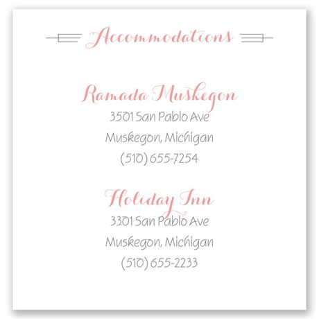 Distinct Style Pocket Accommodations Card