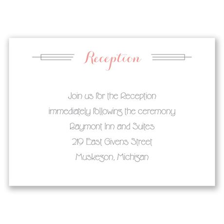 Distinct Style Reception Card