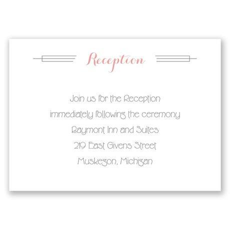 Distinct Style Reception Card