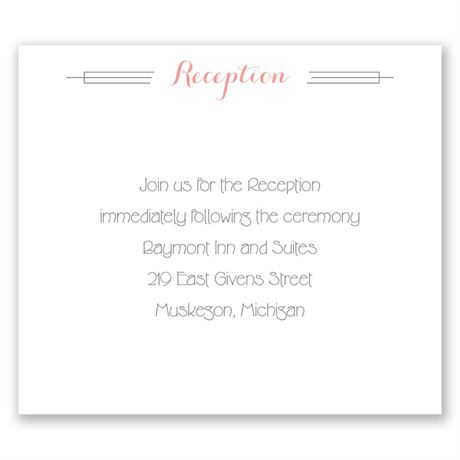 Distinct Style Pocket Reception Card
