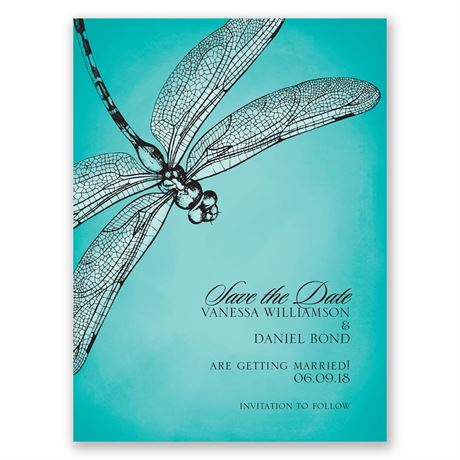 Dragonfly Dream Save the Date Card