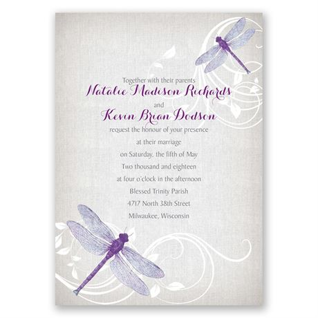 Dragonfly Pair Invitation