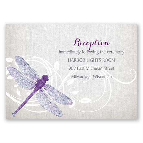 Dragonfly Pair Reception Card
