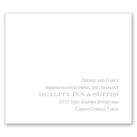 Simply Refined Pocket Reception Card