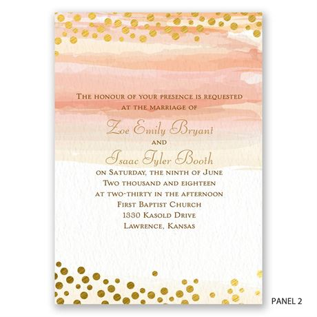 Watercolor Love - Invitation