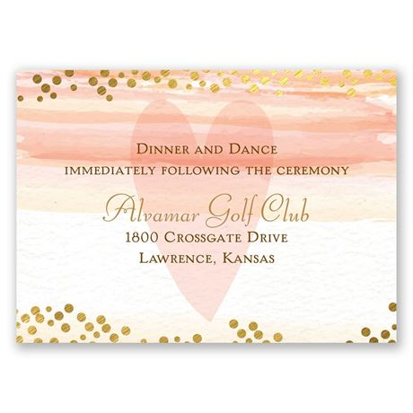Watercolor Love Reception Card