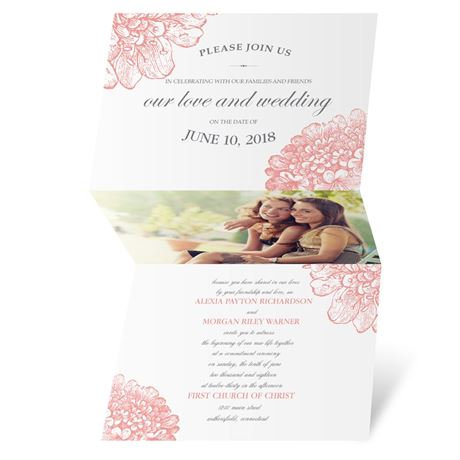 Floral Glimpse Invitation