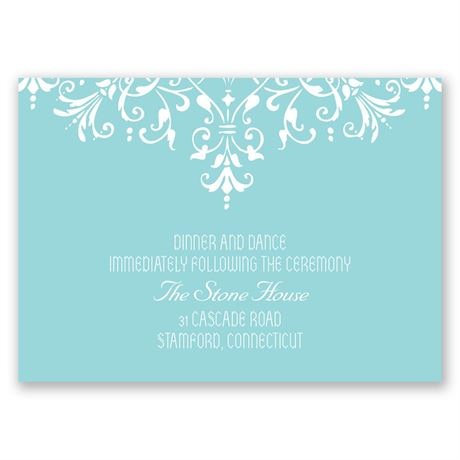 Brilliant Spires Reception Card