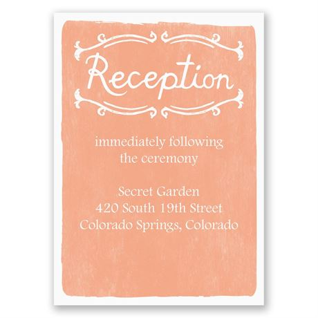 Cordially Invited Reception Card