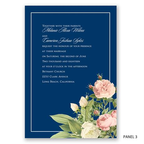 Brilliant Blooms - Invitation