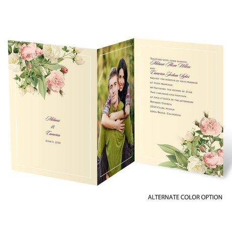 Brilliant Blooms - Trifold Invitation