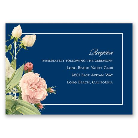 Brilliant Blooms Reception Card