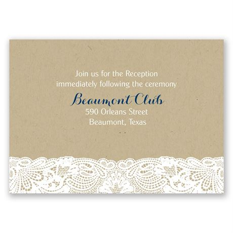 Lace Frame Reception Card