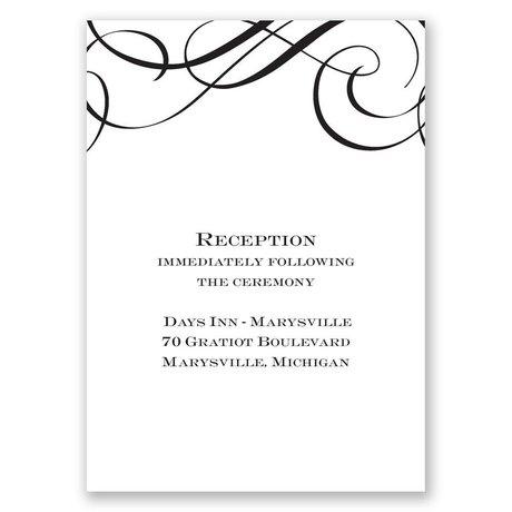 Special Event Reception Card
