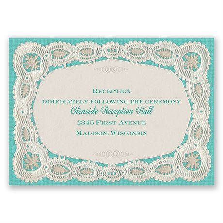 Darling Lace Reception Card